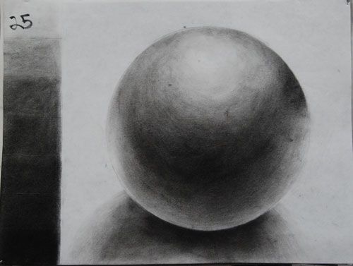 Drawn sphere charcoal High Sphere Drawing 1 Pinterest