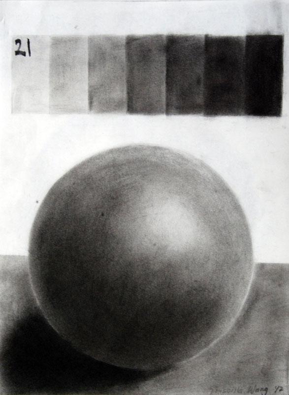 Drawn sphere charcoal Gallery Taipei Sphere Department Art