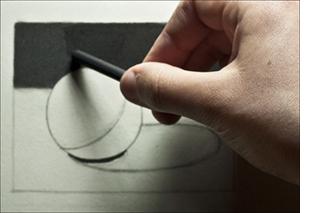 Drawn sphere charcoal Comparison Through Tutorial Value Determining