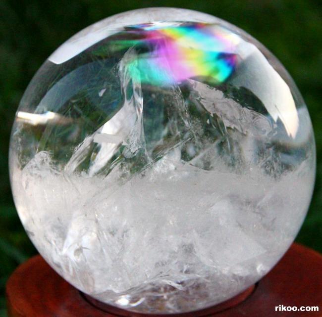 Drawn spheric crystal ball Crystal rainbows 9