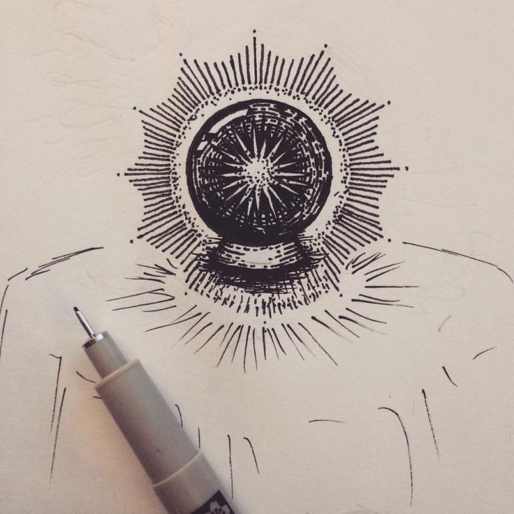 Drawn spheric crystal ball Crystal lines old ball Pinterest