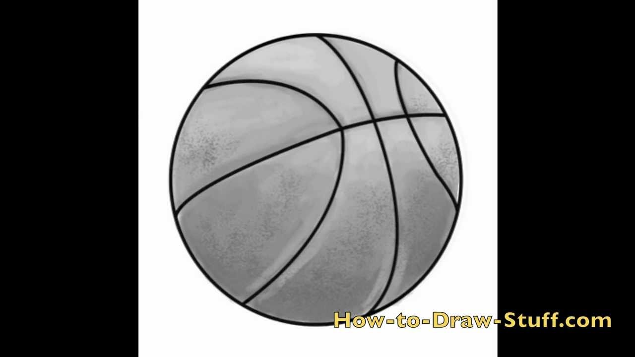 Drawn still life basketball Draw by a How to