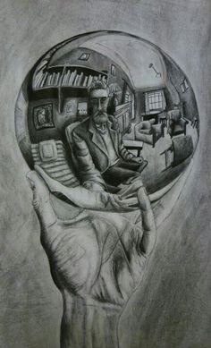 Drawn spheric escher Michelle C on of Reflecting