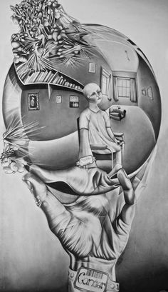 Drawn spheric escher And With  Art by