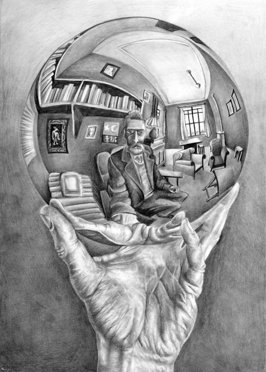 Drawn spheric escher Sphere Escher M  News