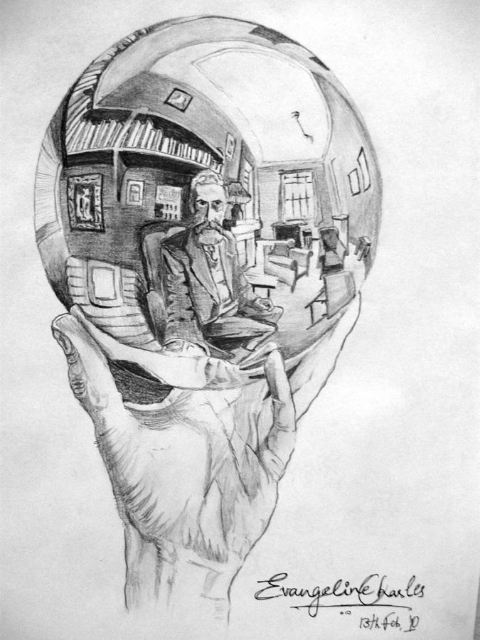 Drawn spheric escher Sphere Sphere Charles Charles Evangeline