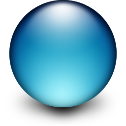 Drawn spheric glass ball Have Globe Rundle so to