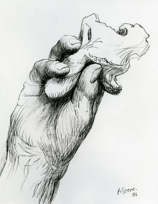 Drawn spheric hand holding Ballpoint 1981 Hand (rubbed Holding