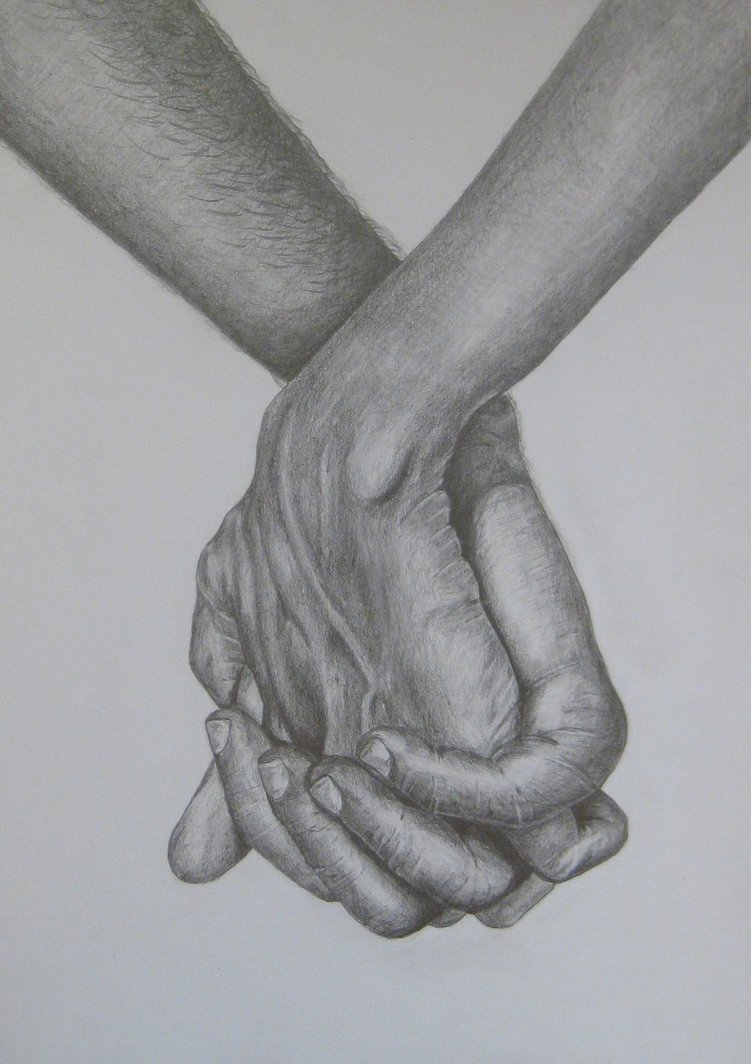 Drawn spheric hand holding Drawings Holding Live Hands to