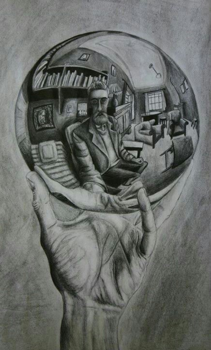 Drawn spheric hand holding Of Michelle  Carol Pencil
