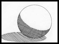 Drawn sphere light on With of Shading present was