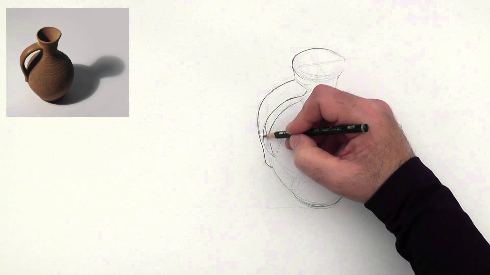 Drawn sphere light on Draw to spherical ceramic pitcher