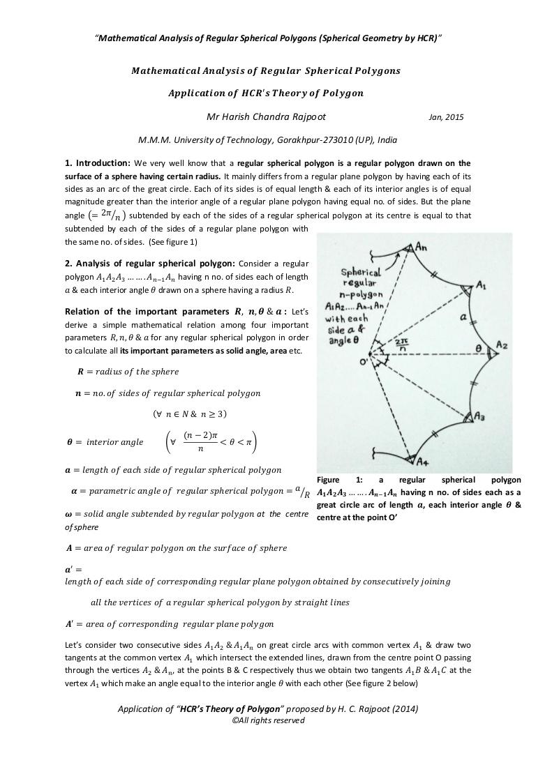Drawn spheric polygonal Regular  Spherical Polygons H…