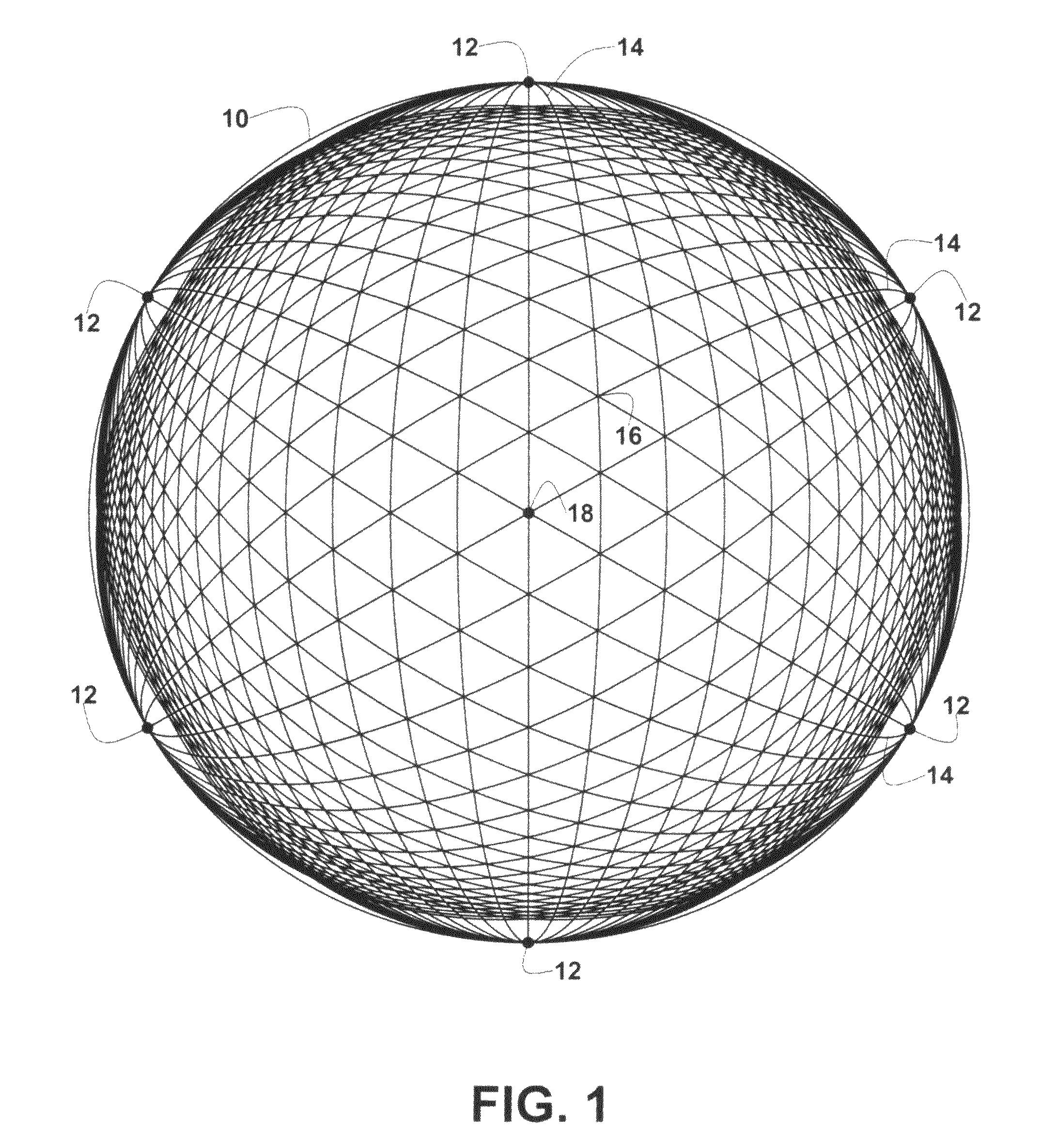 Drawn spheric polygonal Spherical Patent dome Google Patents