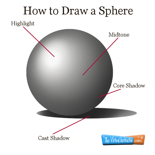 Drawn spheric shadow Drawing Pin quite  more