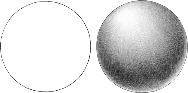 Drawn ball shaded - Pencil and in color drawn ball shaded ...