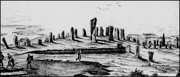Drawn spheric stone circle The Eighteenth of Callanish Callanish