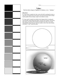 Drawn spheric value scale Drawing #value Worksheets Observational Value