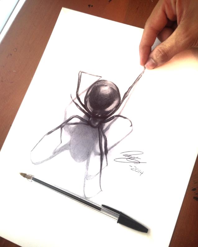 Drawn spider 3d art #5