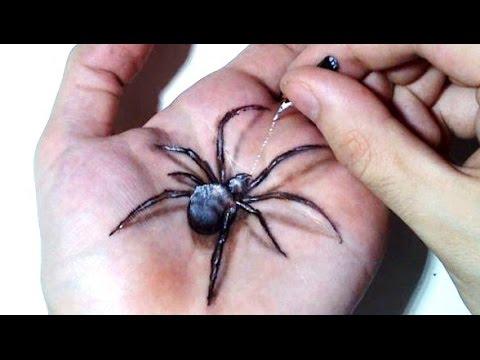 Drawn spider 3d art #14