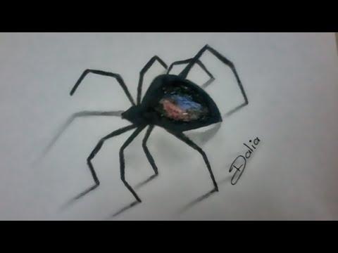 Drawn spider 3d art #6