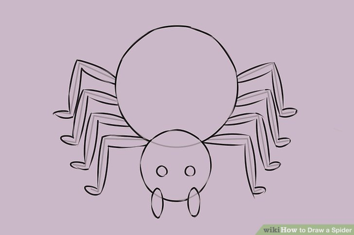 Drawn spider 7 legged Spider Image a a titled