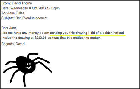Drawn spider 7 legged Spider Background with Paying Bills