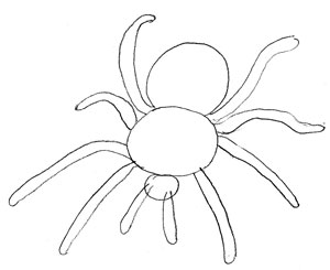 Drawn spider 3 How Draw Draw Step