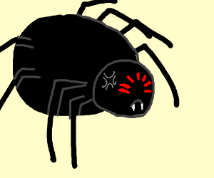 Drawn spider angry Angry 7Skyes) (drawing Spider Spider