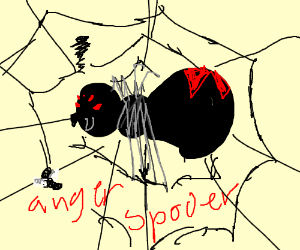 Drawn spider angry Angry animations) Animator Some (drawing