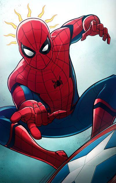 Drawn spider anime Spider on spiderman Pinterest on
