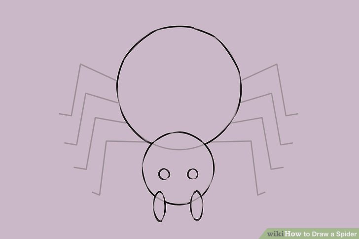 Drawn spider cartoon #5