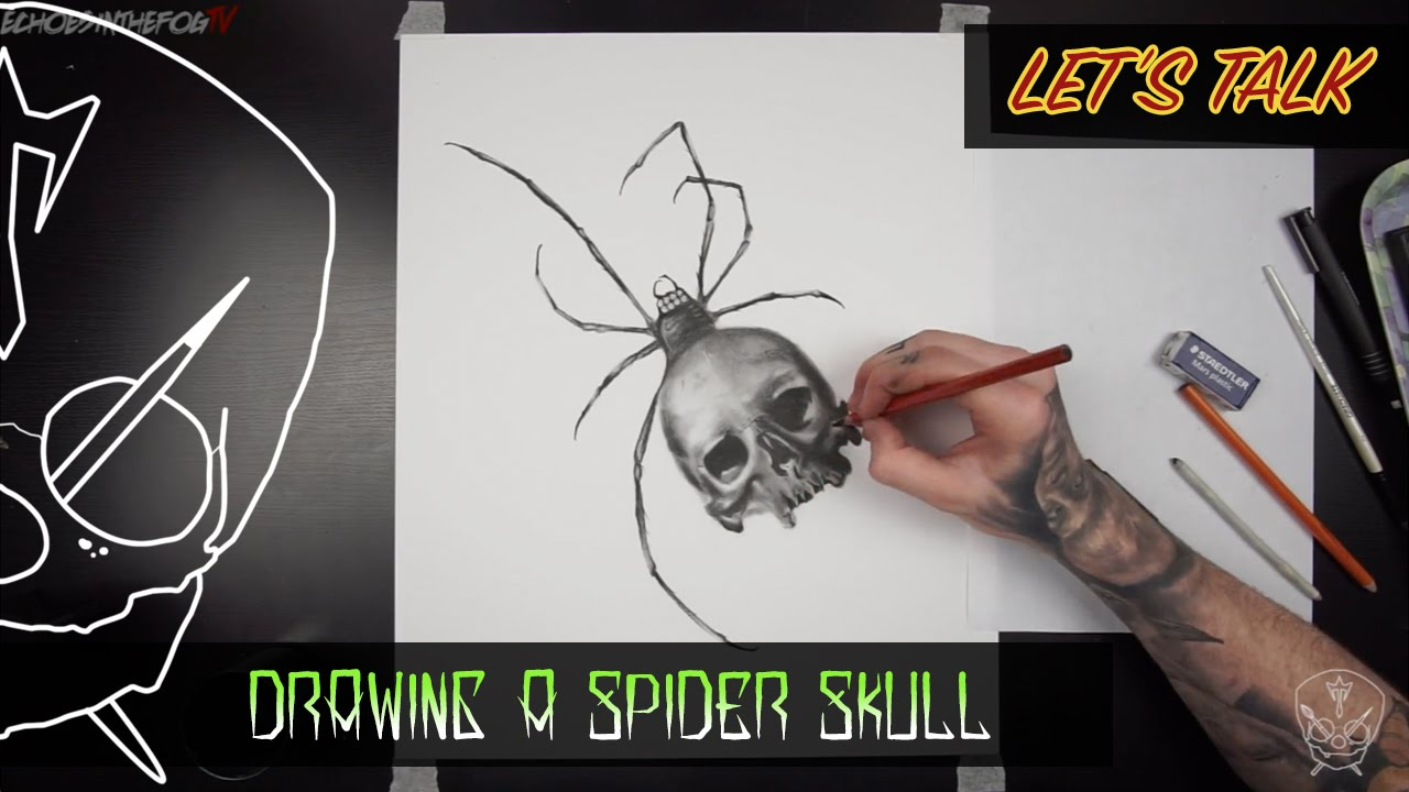 Drawn spider charcoal #5