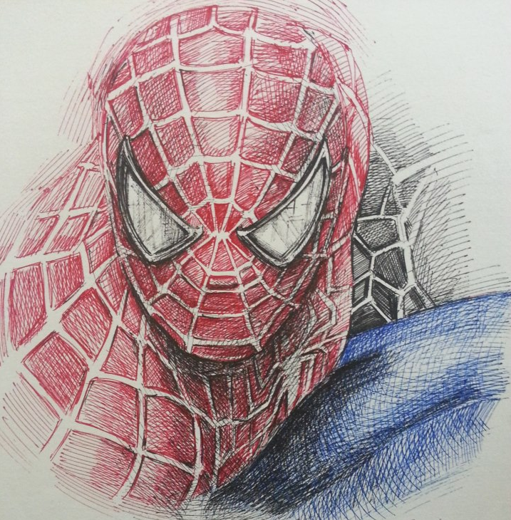 Drawn spider color Spiderman Pencil In Drawings Color