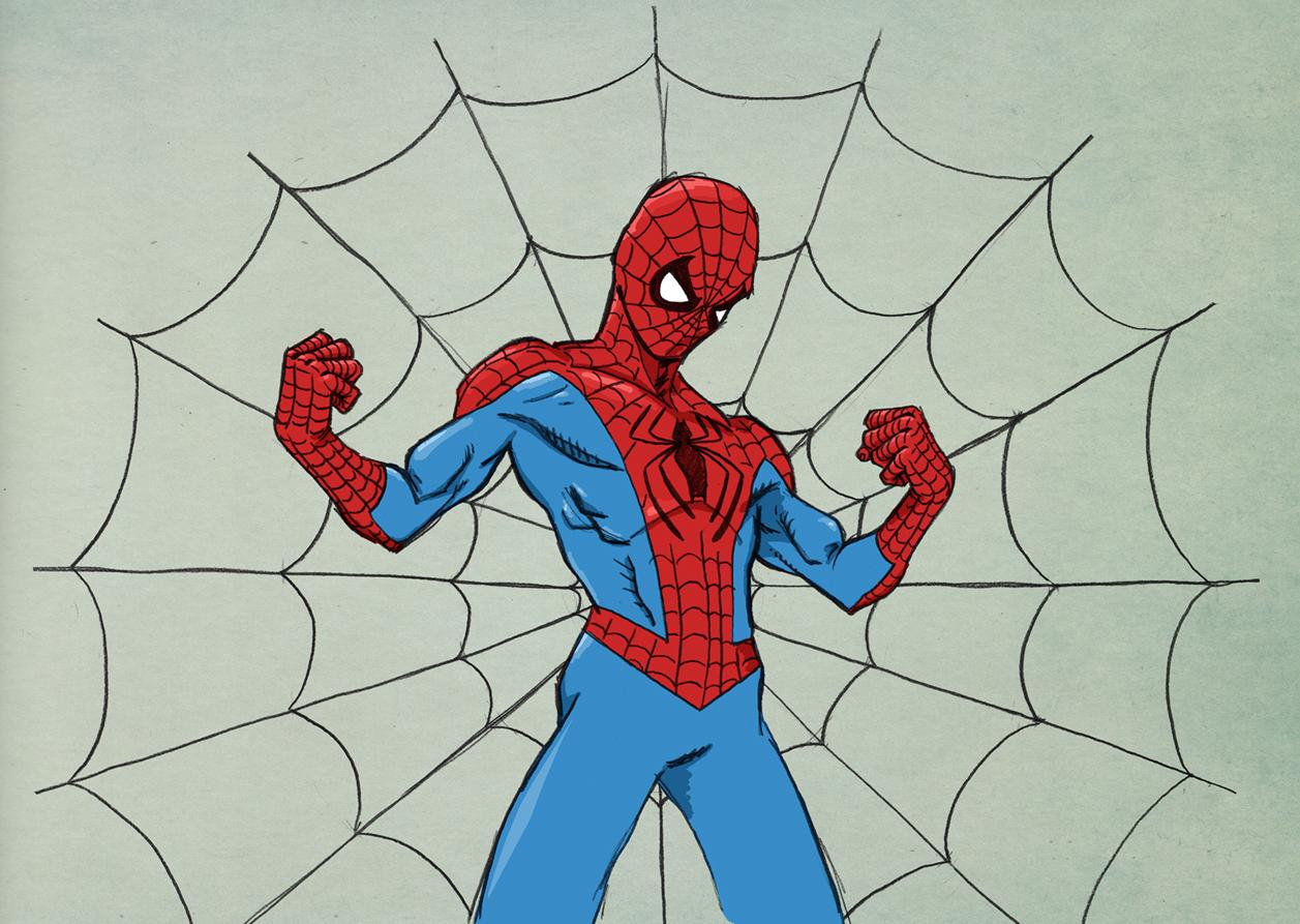 Drawn spider color #9