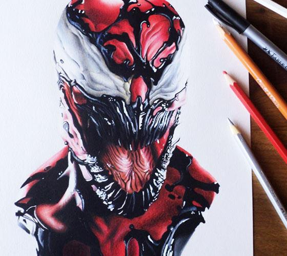 Drawn spider color #14
