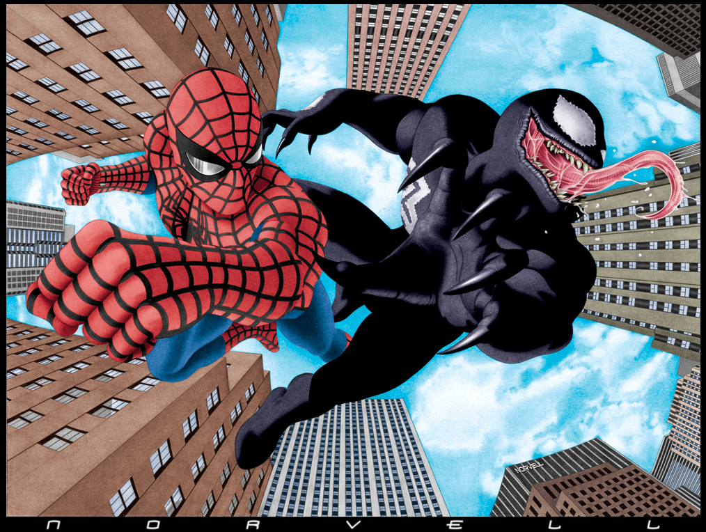 Drawn spider color  by Man on COLOR