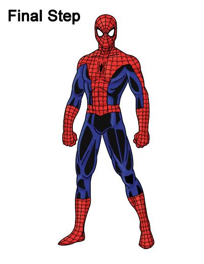 Drawn spider color #10