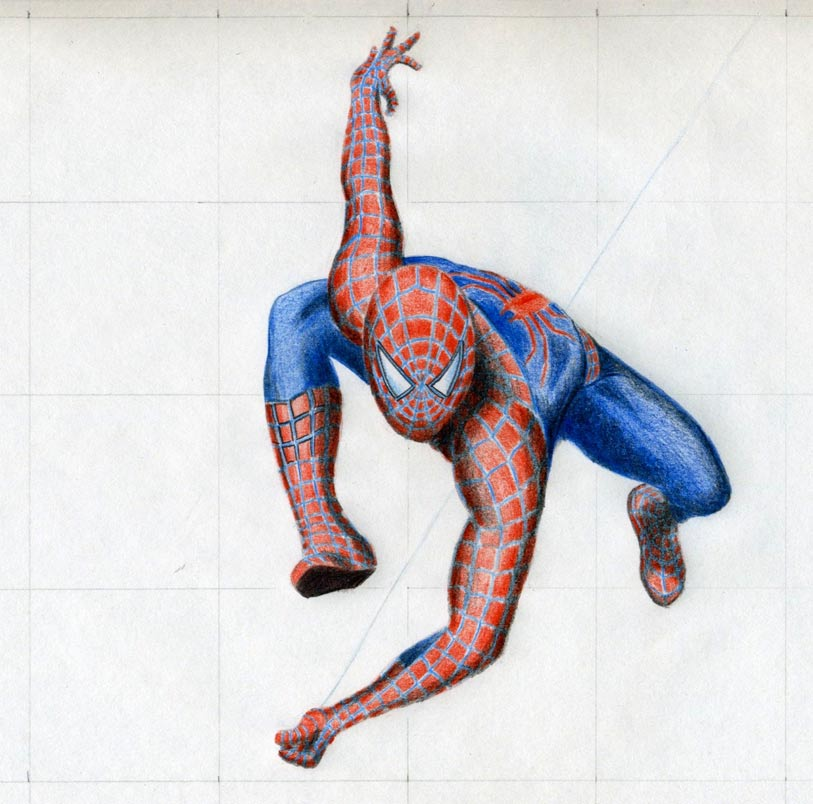 Drawn spider color Draw blue you string a