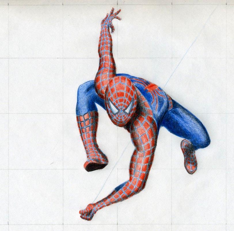 Drawn spider color #3