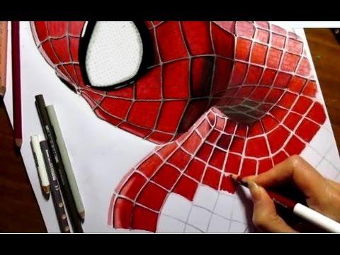 Drawn spider color #12