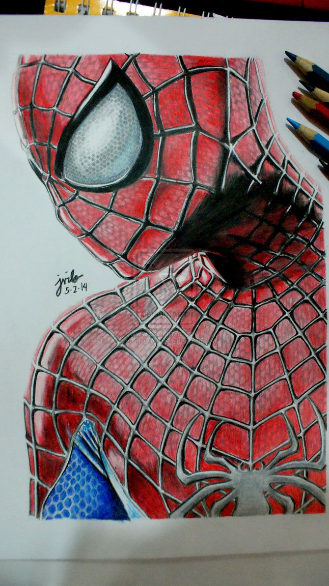 Drawn spider color Drawing Amazing on 2 on