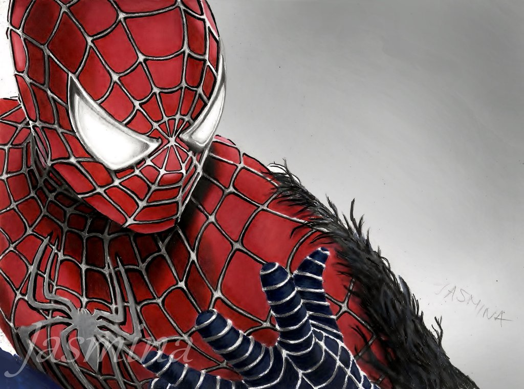Drawn spider color Colors mjforyou by 2 man