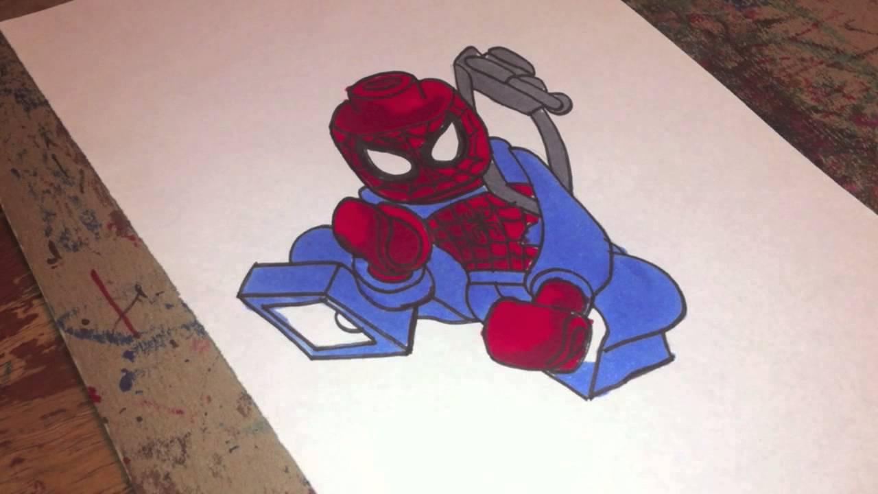 Drawn spider color #5
