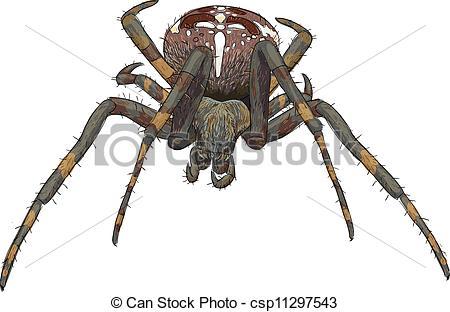 Drawn spider creepy spider Art Spider spider clipart in