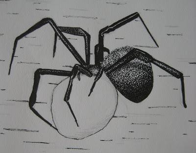 Drawn spider creepy spider #4