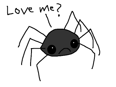 Drawn spider creepy spider Of Spiders Scary spider HATE