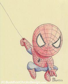 Drawn cartoon spiderman #9