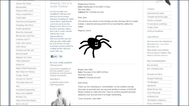S email Email Spider Thorne