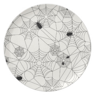 Drawn spider dinner plate #5